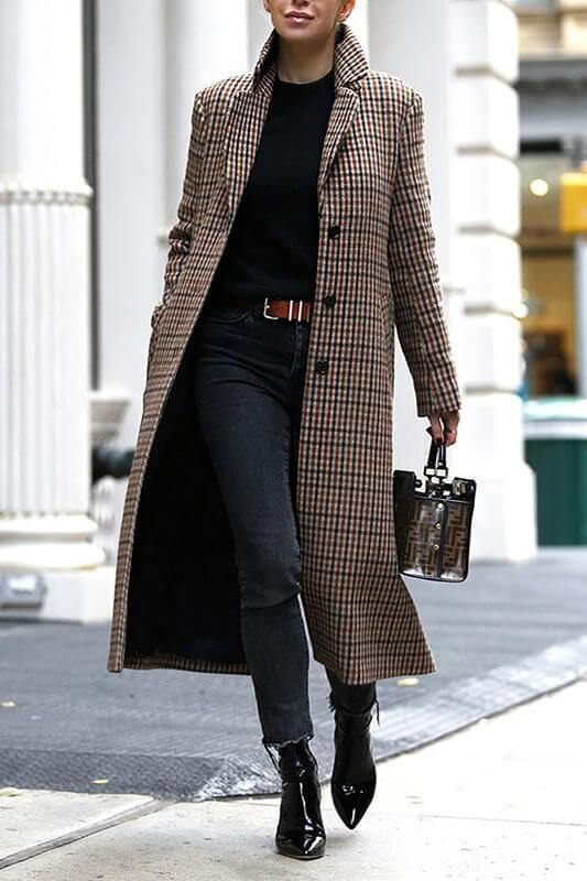 plaid coat coat outfit ideas for work