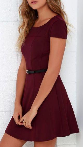 short burgundy christmas dress for teenage girl