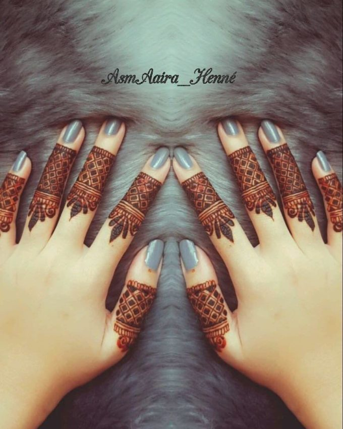 stylish pattern fingers mehndi designs for 2020
