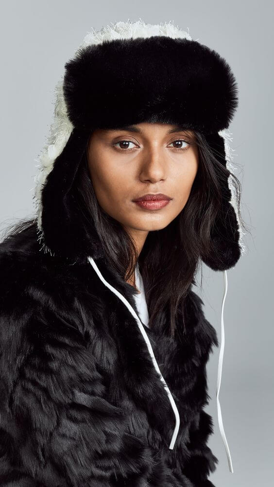 winter trapper hat for females