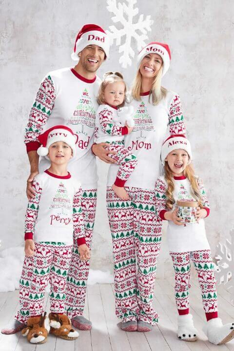christmas pajamas outfits for family