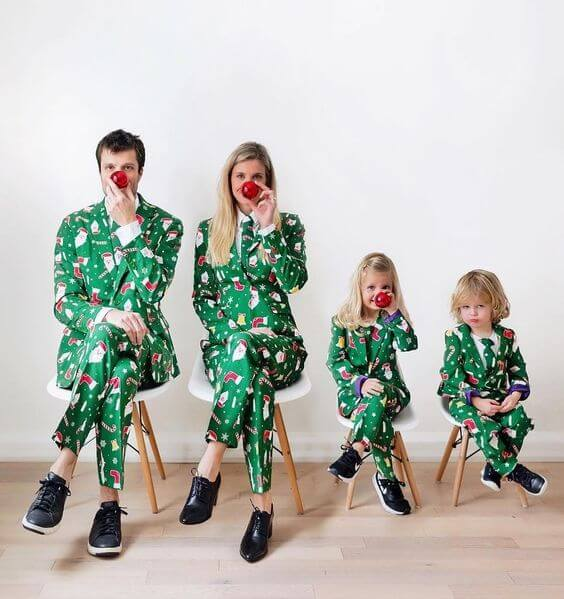 christmas party suit outfit ideas for family
