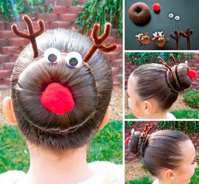 christmas reindeer hair accessories for girls