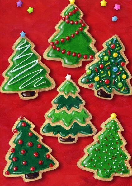 christmas tree cookies decor ideas