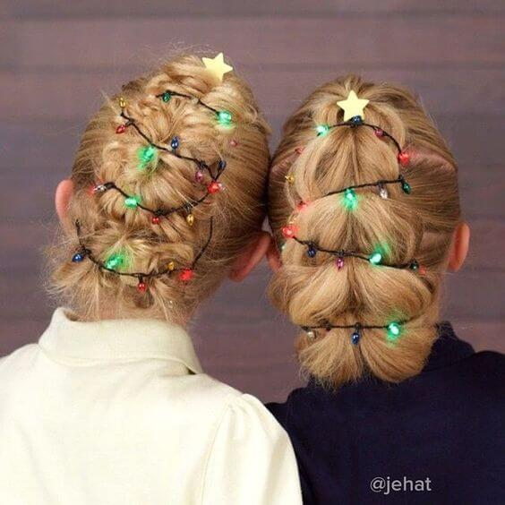 christmas tree lights hair accessories