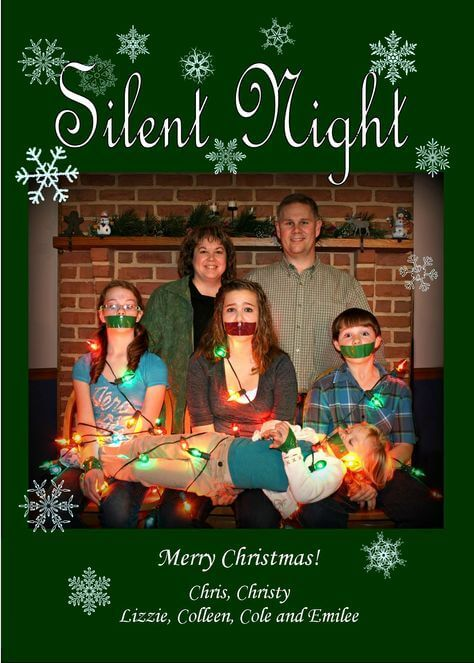 hilariously bad idea of family christmas card pictures