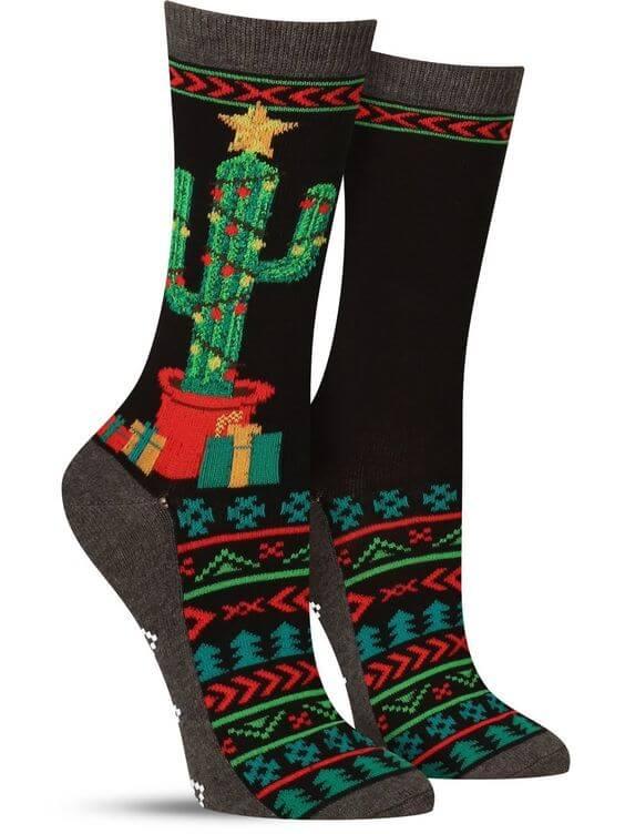 holiday traditional ugly christmas socks