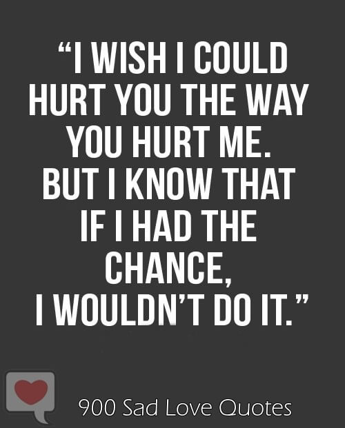 hurtful love quote image for him and her