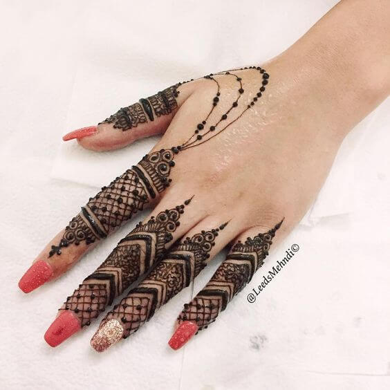 jewellery fingers mehndi designs