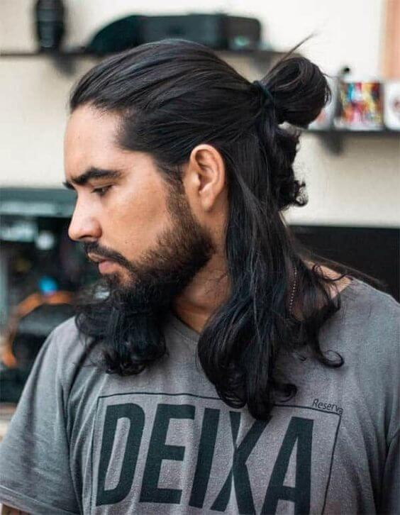 man bun long hairstyle for 2020
