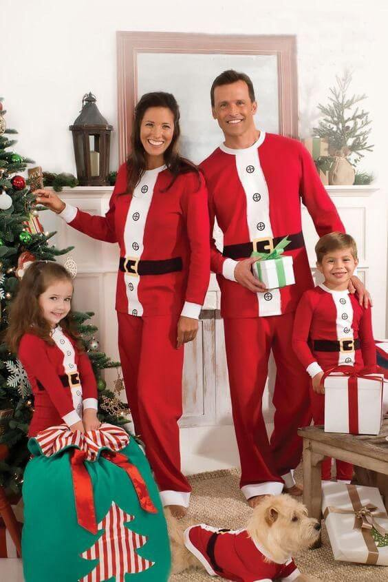 matching christmas family christmas santa outfits