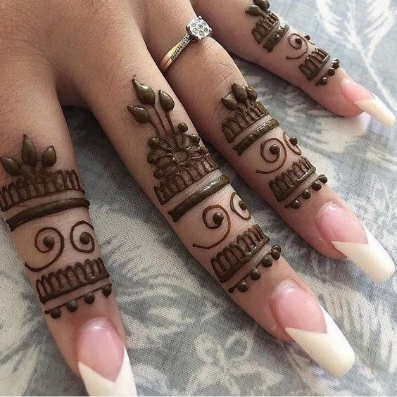 mehandi design patterns for fingers