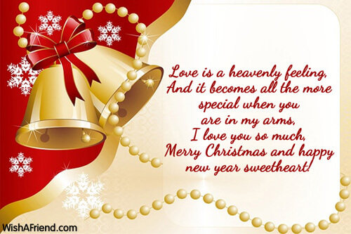 merry christmas and happy new year messages for sweetheart