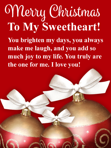 merry christmas quotes images for sweetheart