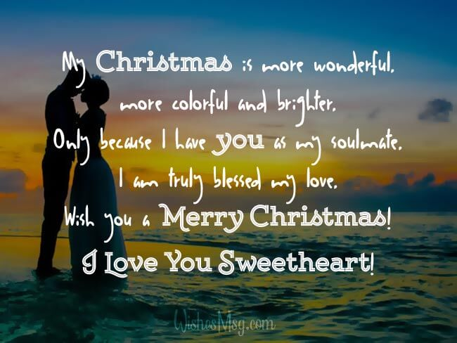 merry christmas sweetheart images with love quotes