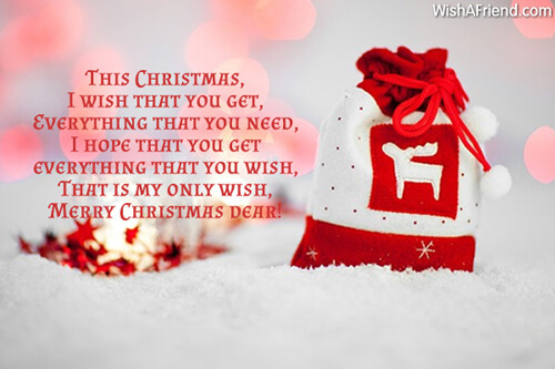 merry christmas wishes for wife