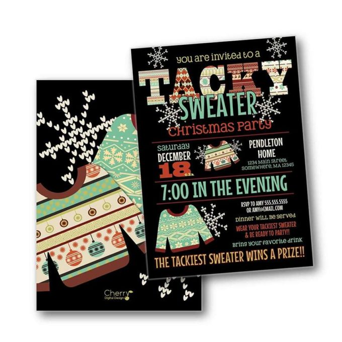 tacky christmas party invitaton ideas