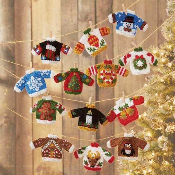 tiny ugly knitted sweaters decoration