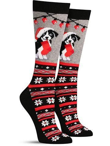 ugly christmas dog socks