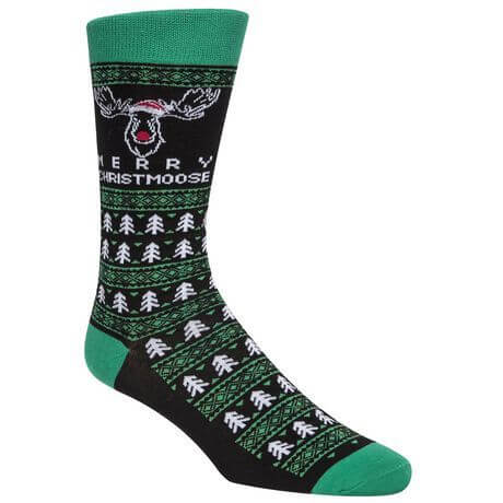 ugly christmas sweater socks with reindeer design