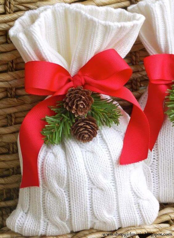 wrapped sweater christmas gifts and decoration ideas