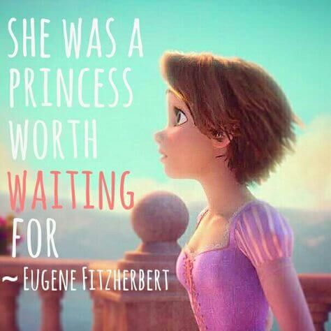 famous animated love movie Tangled cute and romantic love quote