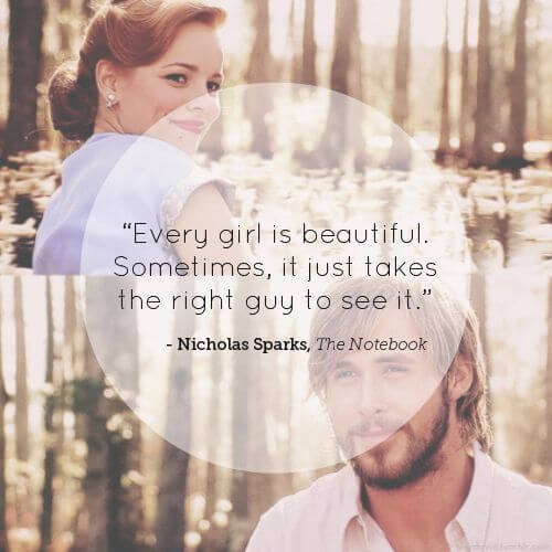 famous love movie The Notebook cute romantic love quote