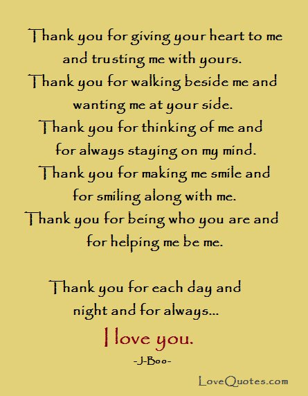 thank you love quotes