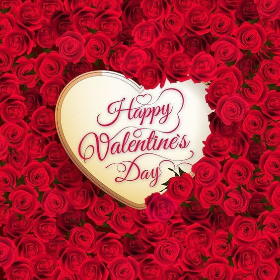 download free happy valentines day heart with roses image