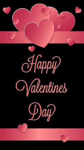 download free happy valentines day pink hearts image for card