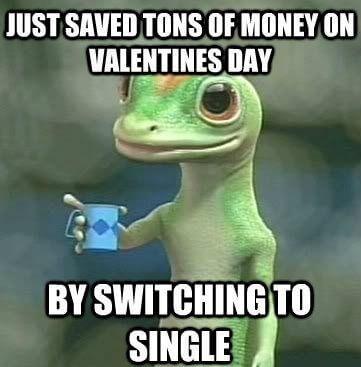 funny single valentines day meme