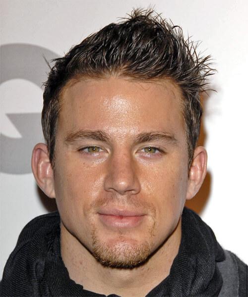 Channing Tatum spikes haircut