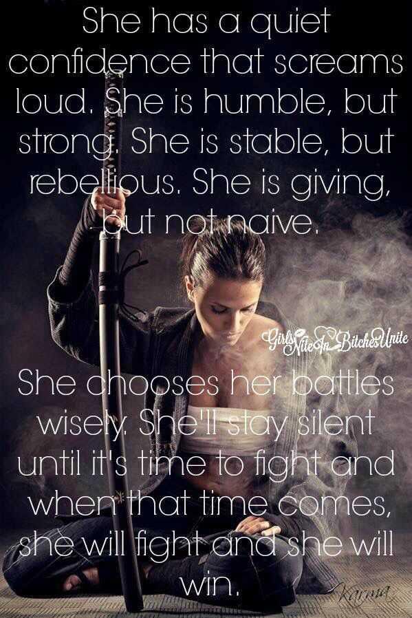 confident warrior woman quotes