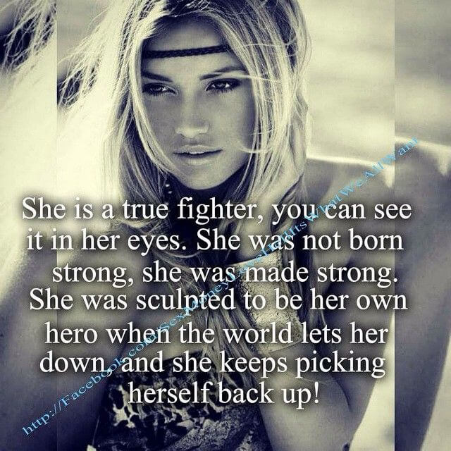 fighter warrior woman quote