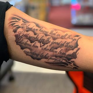inner bicep bible scripture tattoo