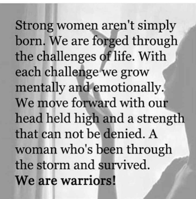 strong warrior women quote