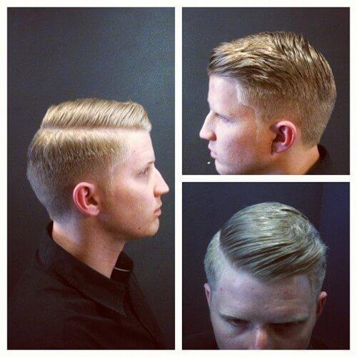 Corte de pelo descolorido de los hombres de 1950