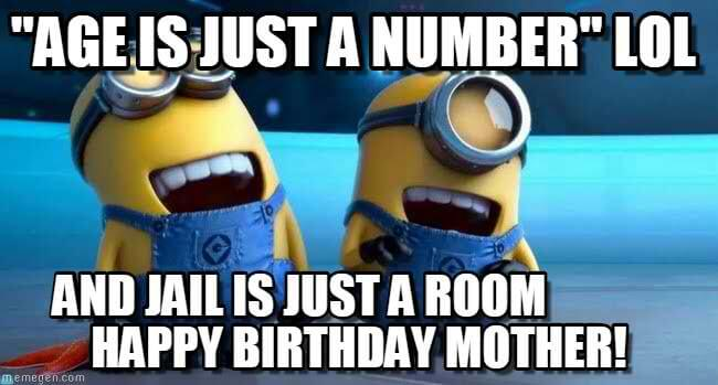 age is just a number happy birthday mom meme
