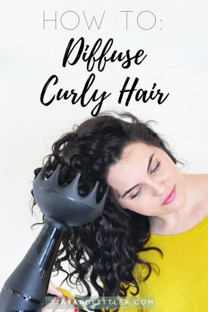 how to diffuse wavy hair