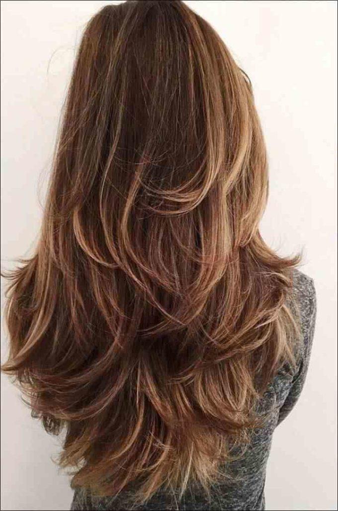 layered haircut in long hair