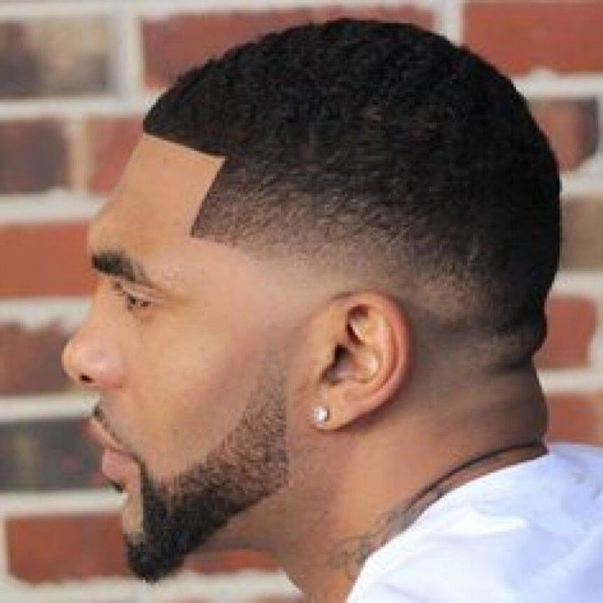 low fade black hair