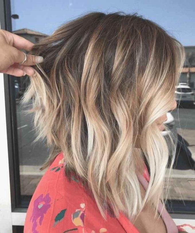 medium lob haircut with layers