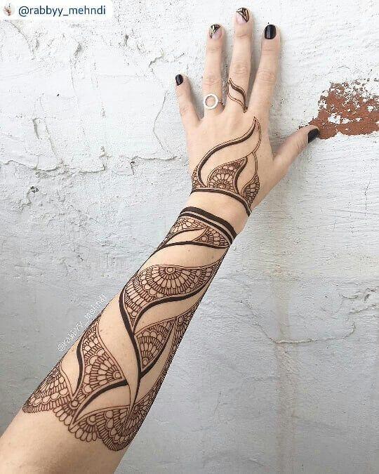 arabic floral bracelet mehndi design