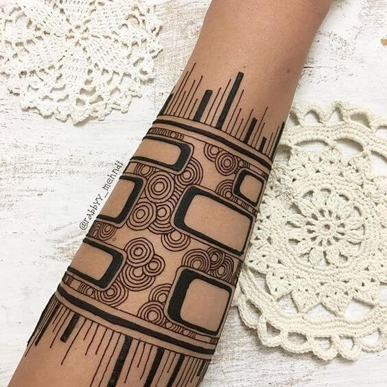 awesome arabic bracelet mehndi design