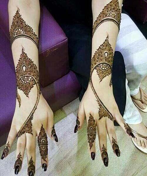 beautiful arabic bridal bracelet mehndi design