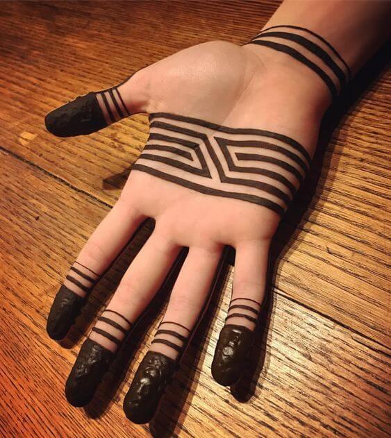 black armband bracelet henna design