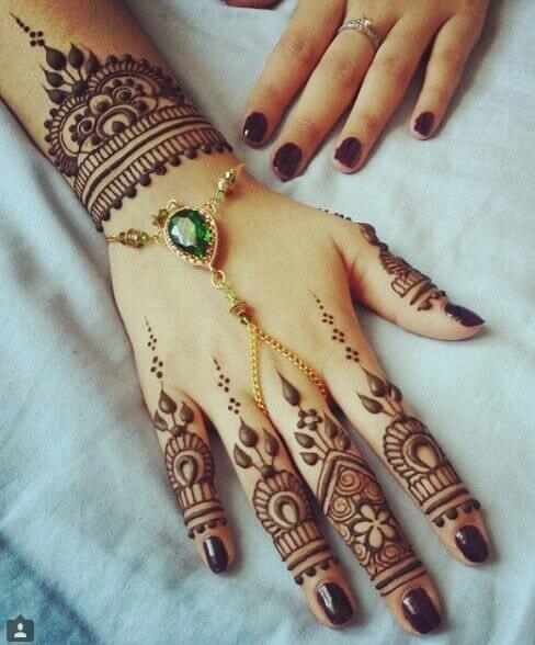 bridal jewelry henna bracelet design