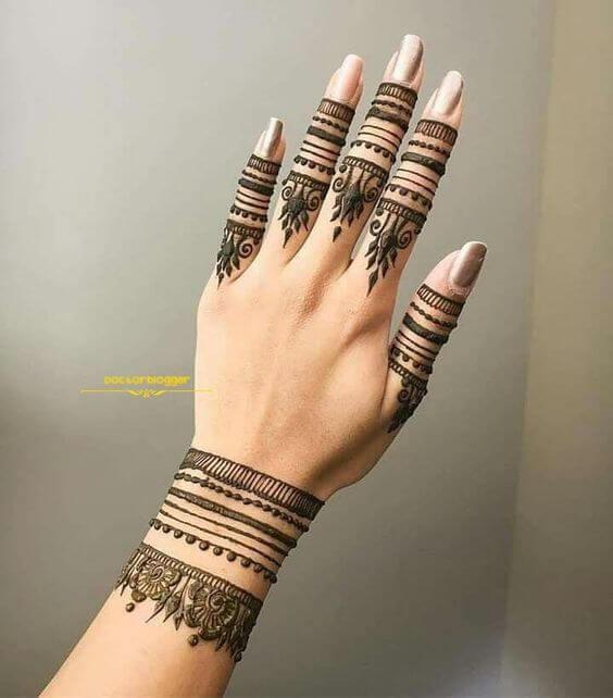 bridal wedding bracelet mehndi design