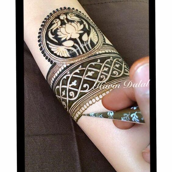 love birds bracelet henna design