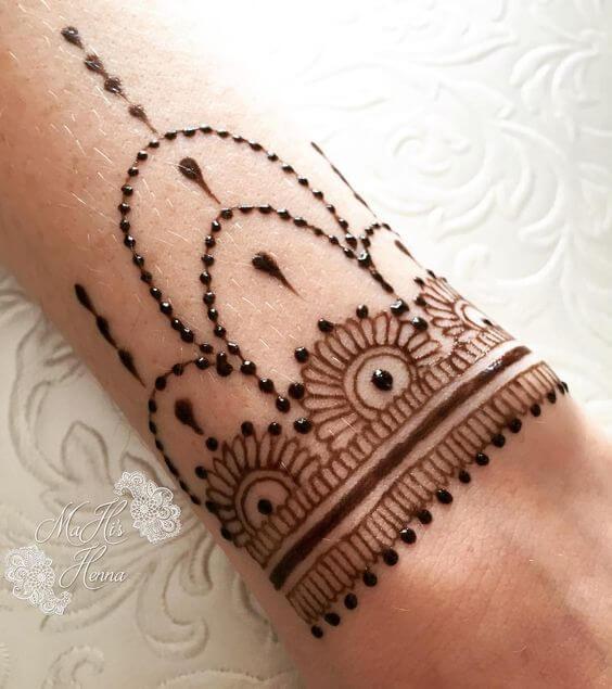 stylish bracelet henna design